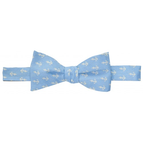 Anchors Up Bow: Hydrangea / Ivory